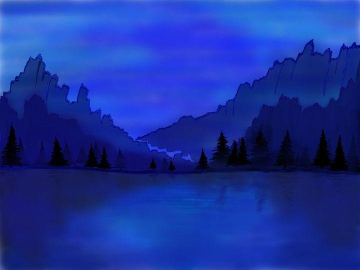 Calm Indigo Waters - Vrsh Art Studio