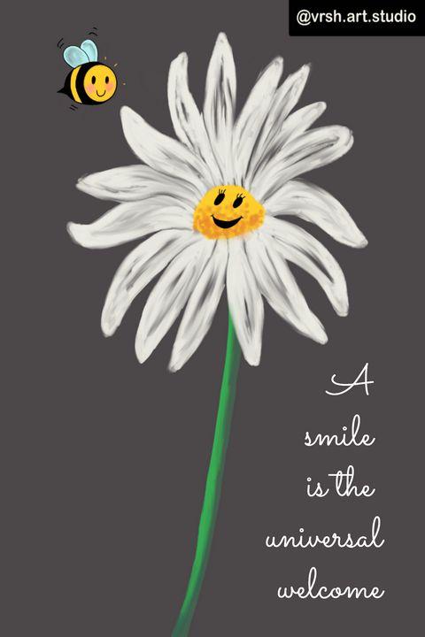 A smile is the universal welcome - Vrsh Art Studio