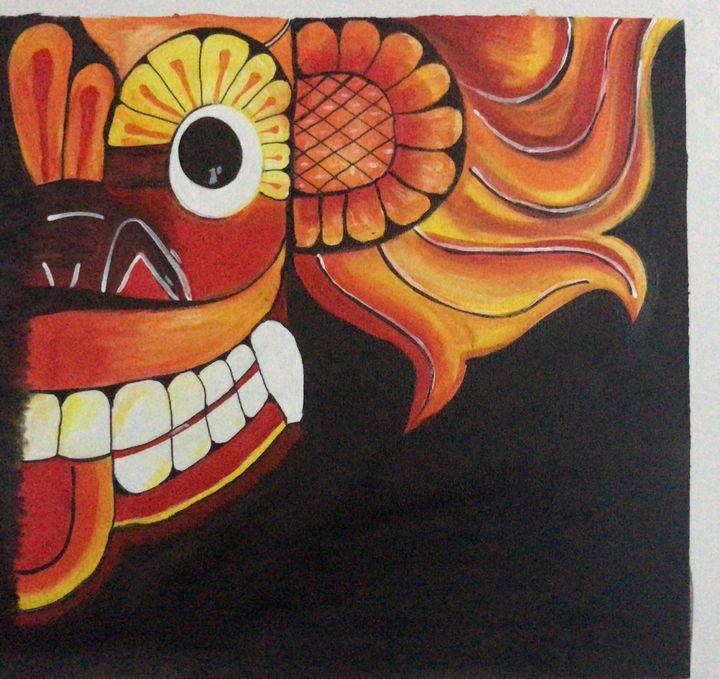 Srilankan Traditional Devil mask - Vinoja