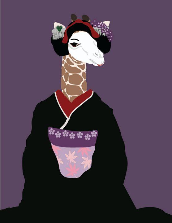 The Geisha Giraffe - RoundtheBendArt