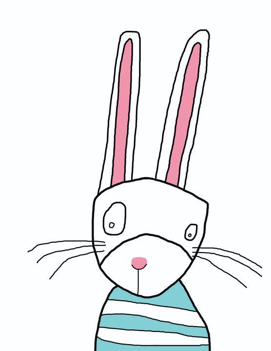 Whimsical Bunny - RoundtheBendArt
