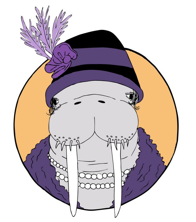 Aristocrat Walrus Lady - RoundtheBendArt