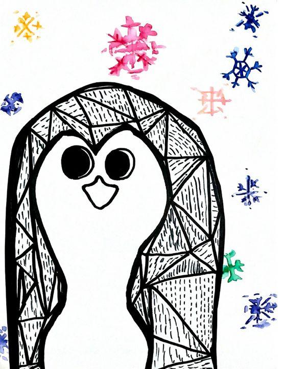 Winter Penguin - RoundtheBendArt