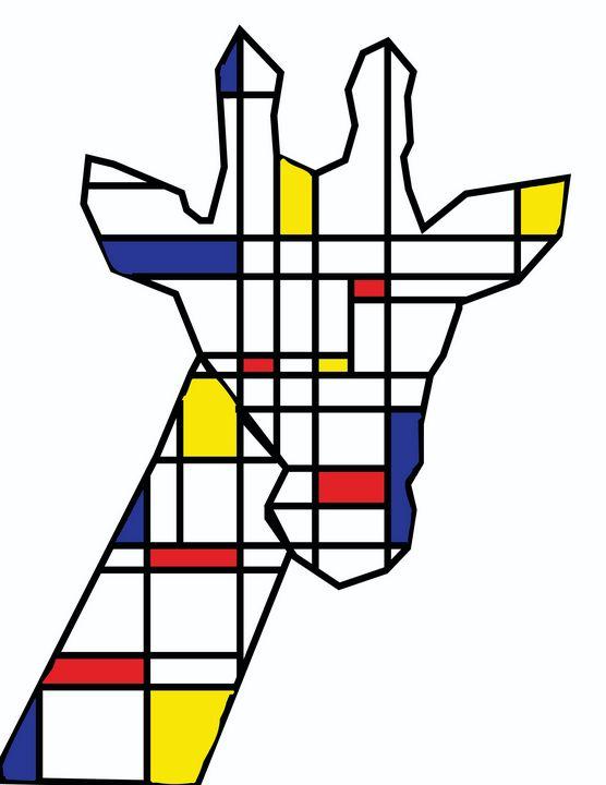 Mondrian giraffe - RoundtheBendArt