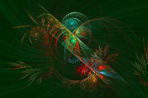 Divulgence. Floral Fractal Abstract
