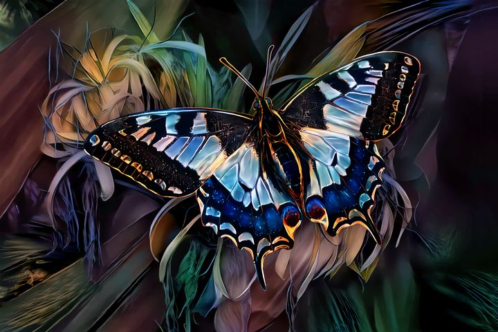 Alighted Swallowtail Butterfly - Artly Studio