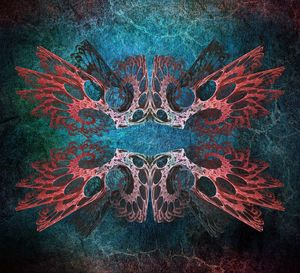 Romantic Grunge. Fractal Abstract
