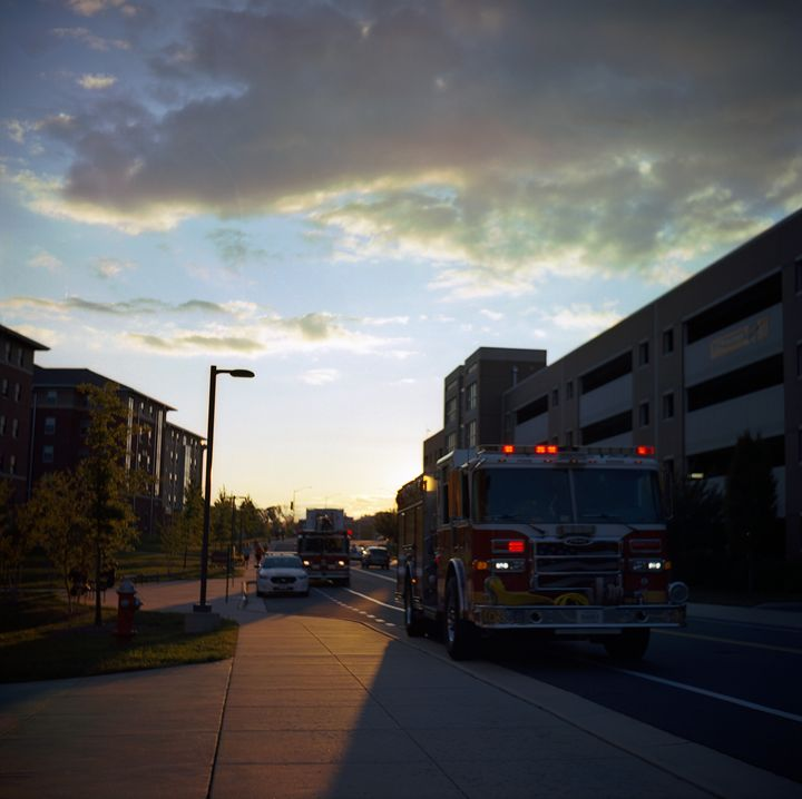 Firetruck Sunset - Shot On Film