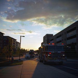 Firetruck Sunset