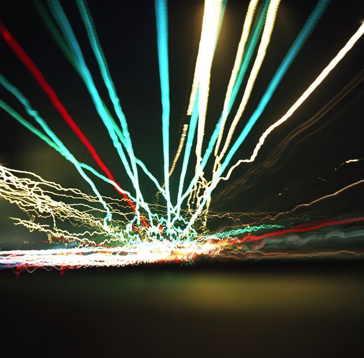 Light Streaked Highway - Shot On Film