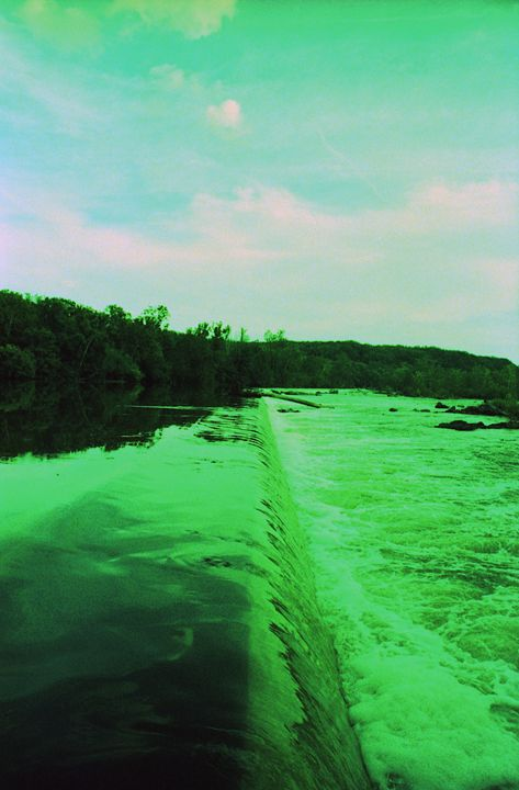 Green Waterfall - Shot On Film