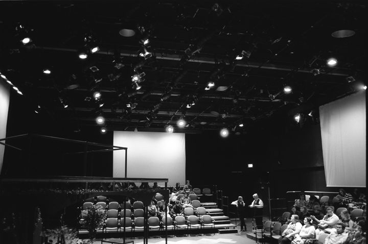 College Theater Stage - Shot On Film