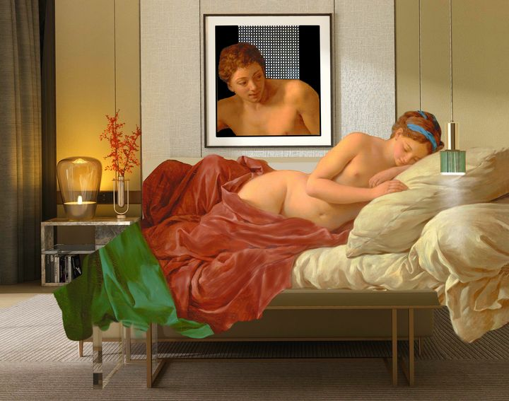 ''Mars and Venus'' Francois Lagrenee - Leon Sternberg