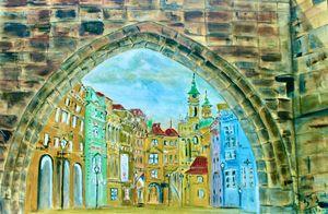 Prague through the Arch