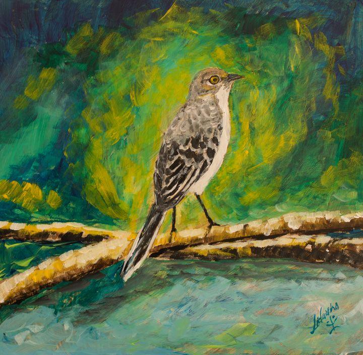 Grey Kingbird - Lidu's Arts
