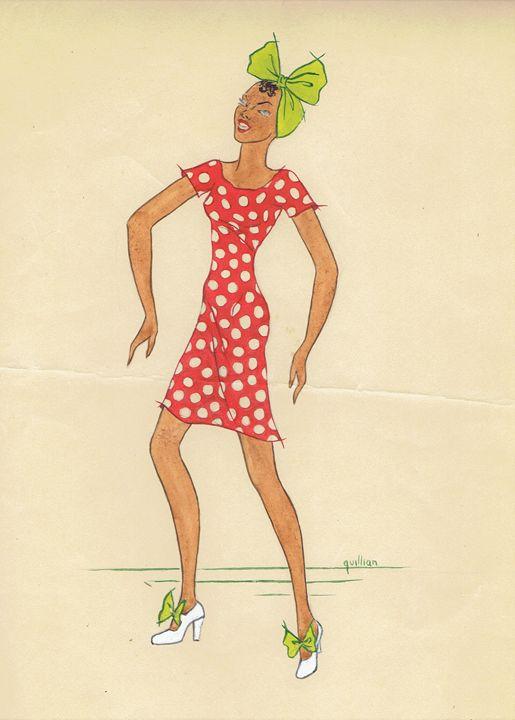Prancing Polka Dots (circa 1938) - LaMerle's Art