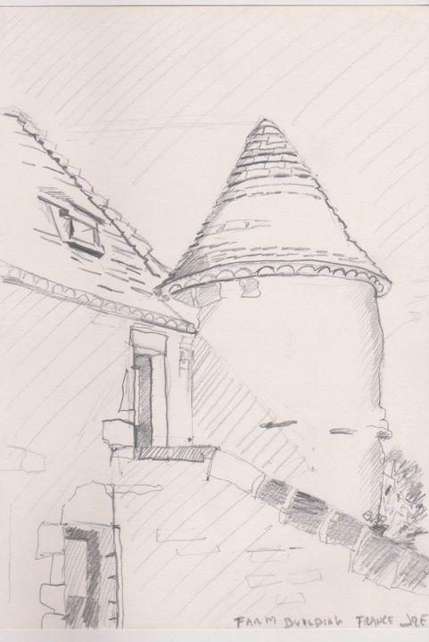 Farm building France Second Drawing - Ivyemaye