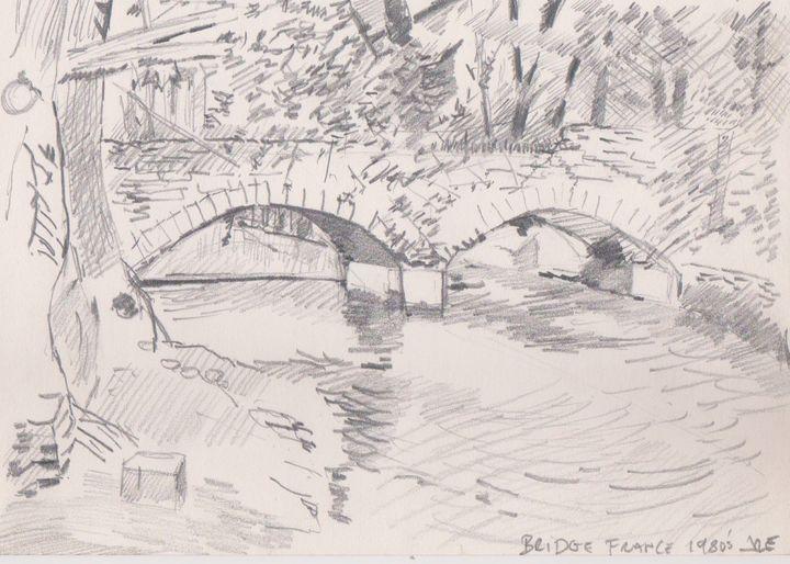 Bridge Across A River, France 1980's - Ivyemaye