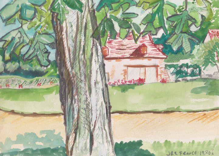 Cottage with Tree France - Ivyemaye