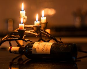 Wine at candle light