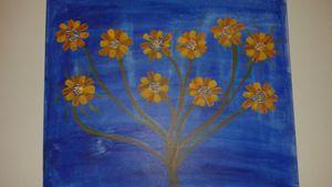Royal blue daisies!