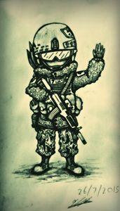 The Waving Militiaman