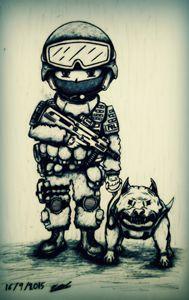 SWAT and angry dog