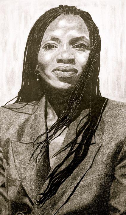 Lady with long braids - Biola Shofu