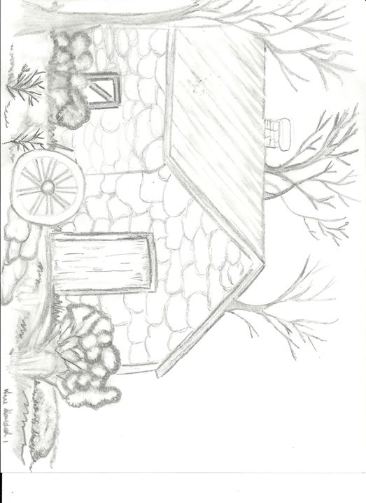 a sweet cottage - Anne's drawings
