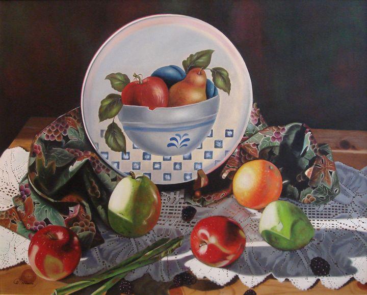 A Medley of Fruits and asparagus - Sue Nomura Fine Art Studio