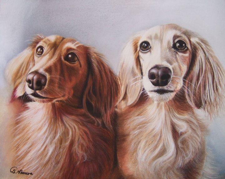 Tiara and Chocola - Sue Nomura Fine Art Studio