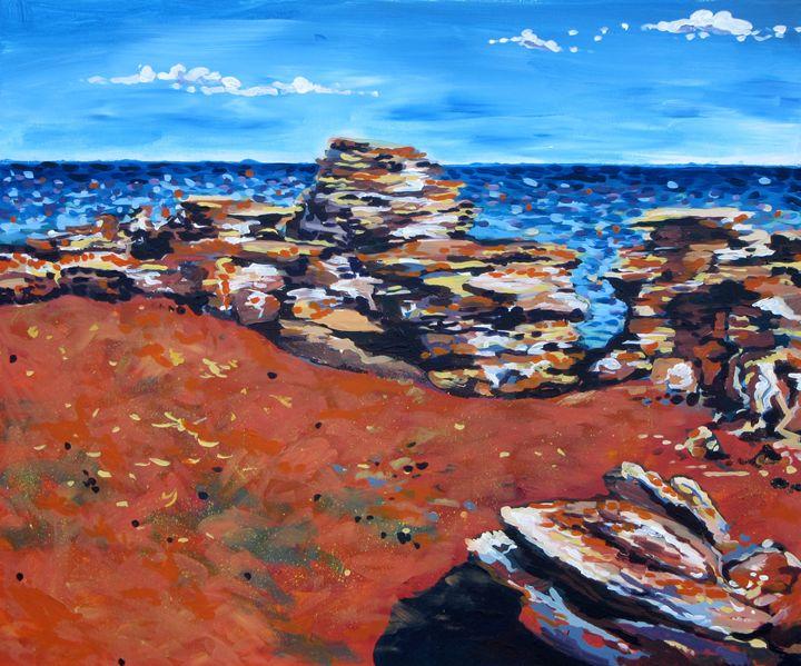 Broome Beach coastline - Karima's Art