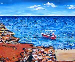 Boat at Broome beach