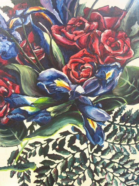 Irises & Roses - Karima's Art