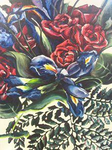 Irises & Roses