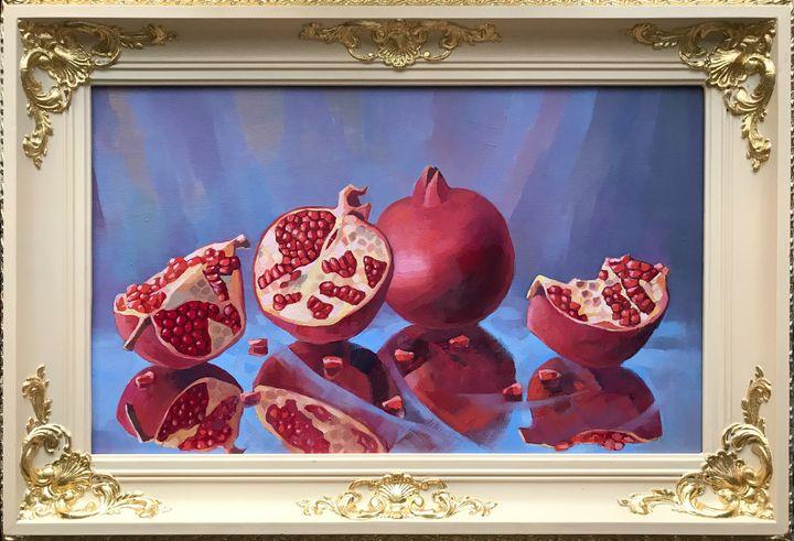 Still life with pomegranates - AndyArtSpace