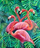 Acrylic painting flamingo