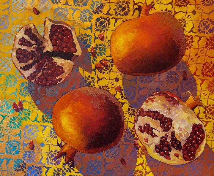 Pomegranates - AndyArtSpace