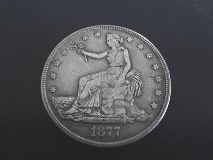 1877 CC  Trade Dollar #2 - THE DRAPED BUST DOLLAR