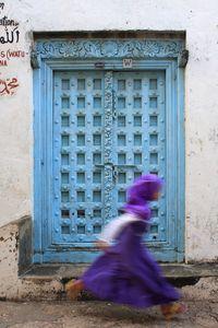 The running girl in Zanzibar.