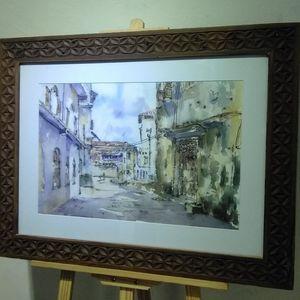 Stone town Zanzibar watercolor