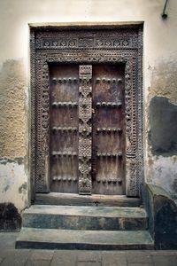 Zanzibar Carved Square Door