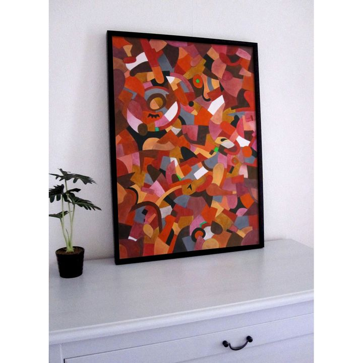 Abstract painting Entropy M23 - Vinadelle