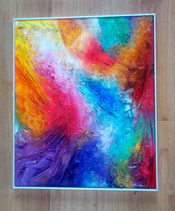 Celeste abstract textured painting