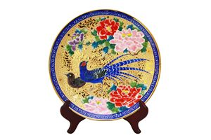 Mikado pheasant with Gilt Plate - EternalArtist