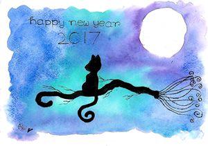moon and cat #5 - Kiwi chan