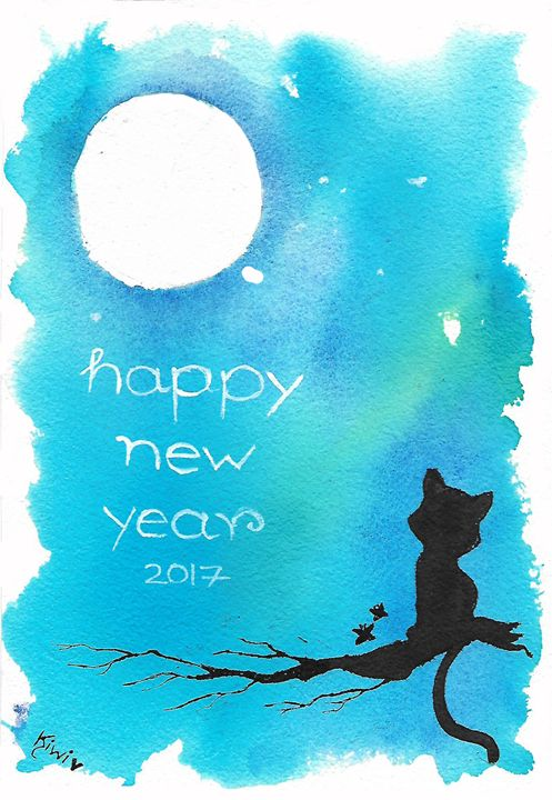 moon and cat #4 - Kiwi chan