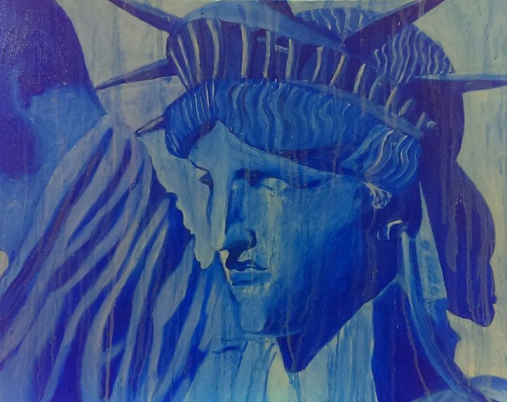 Liberty in Blue - Valerie's Gallery