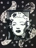 Collage form of Marilyn Monroe
