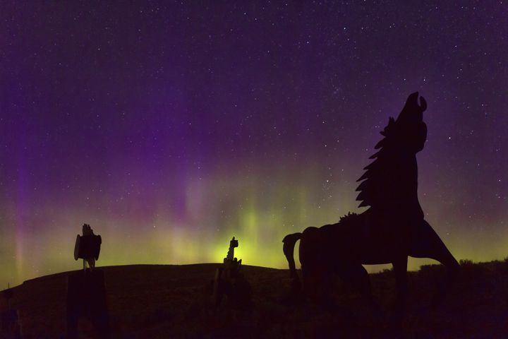 Playing in the Auroras - Bear Conceptions Photography
